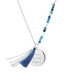Sautoir Bahia Bleu - Argent