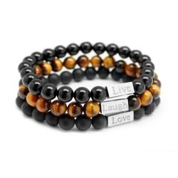 Bracelet perles homme - personnalisé