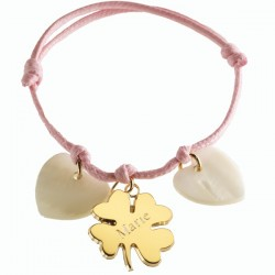 Bracelet Lucky- Plaqué Or et Nacre