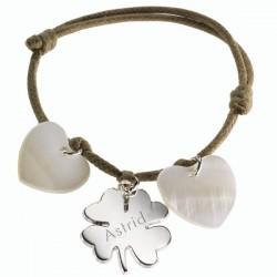 Bracelet Lucky- Argent et Nacre