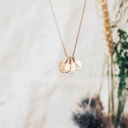 Pendentif Mini Charm Médaille - Plaqué or