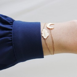 Bracelet Chaine lune - Plaqué or