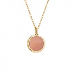 collier personnalisé or et pierre rose