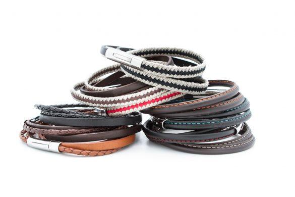bracelets cuir hommes personnalisés gravés