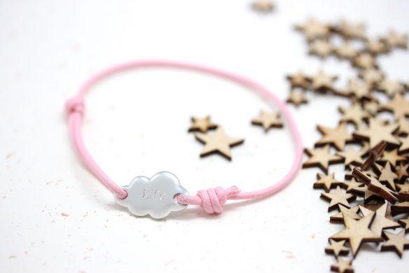 bracelet nuage argent gravé personnalisé
