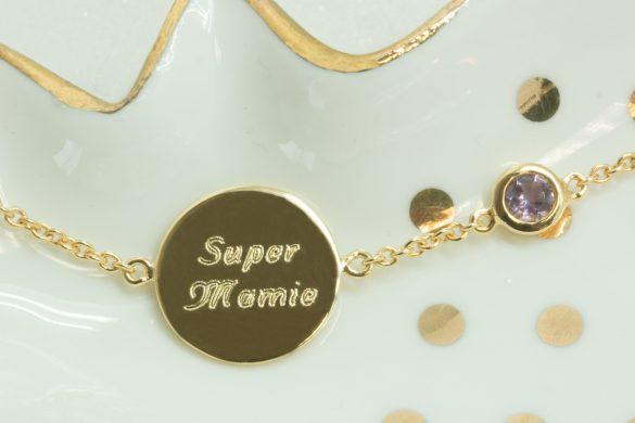 bijoux personnalisés gravés mamie