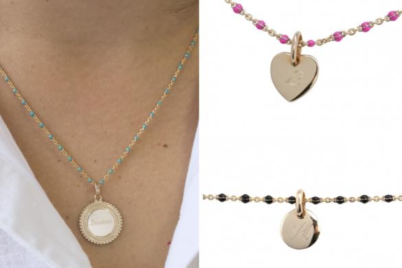 bracelet-chaine-médaille-gravée
