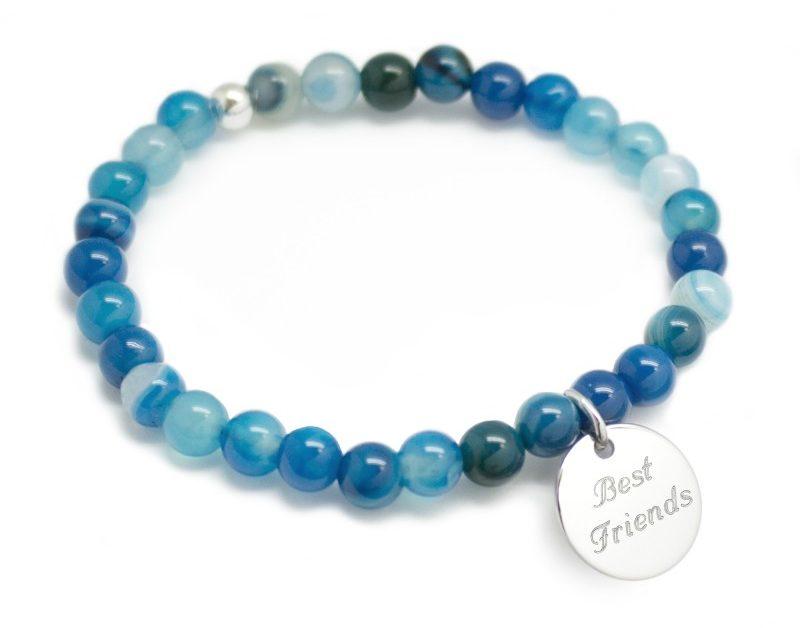 Bracelet gravé Best Friends perles