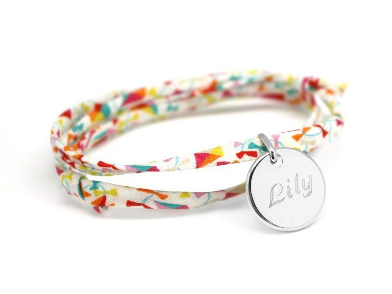 bracelet liberty avec medaille prenom