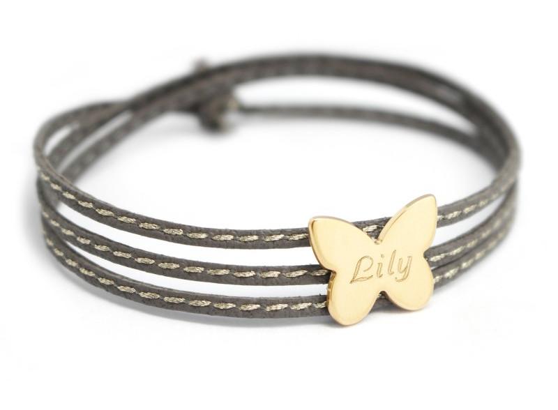 bracelet-gravure-papillon-prenom-cuir