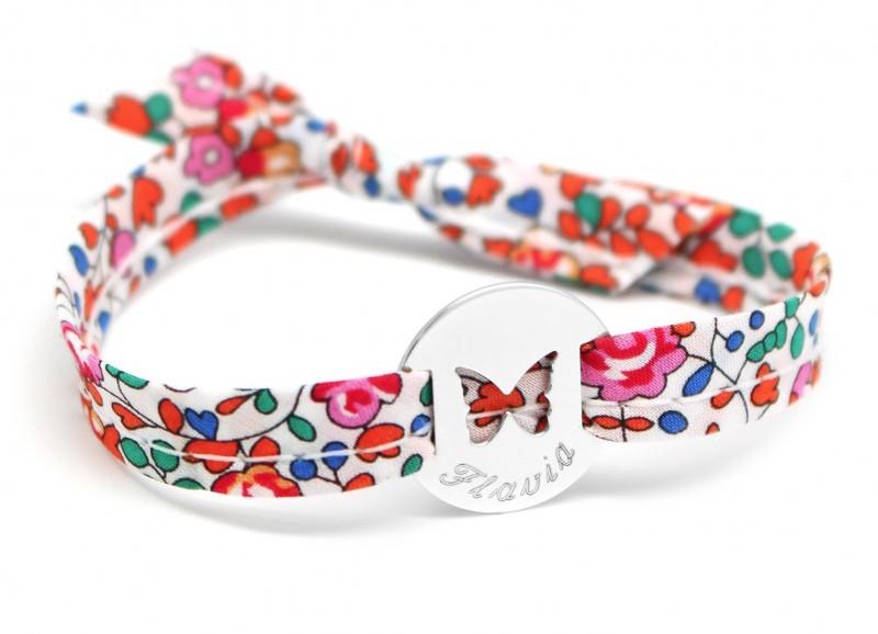 bracelet-medaille-papillon-argent