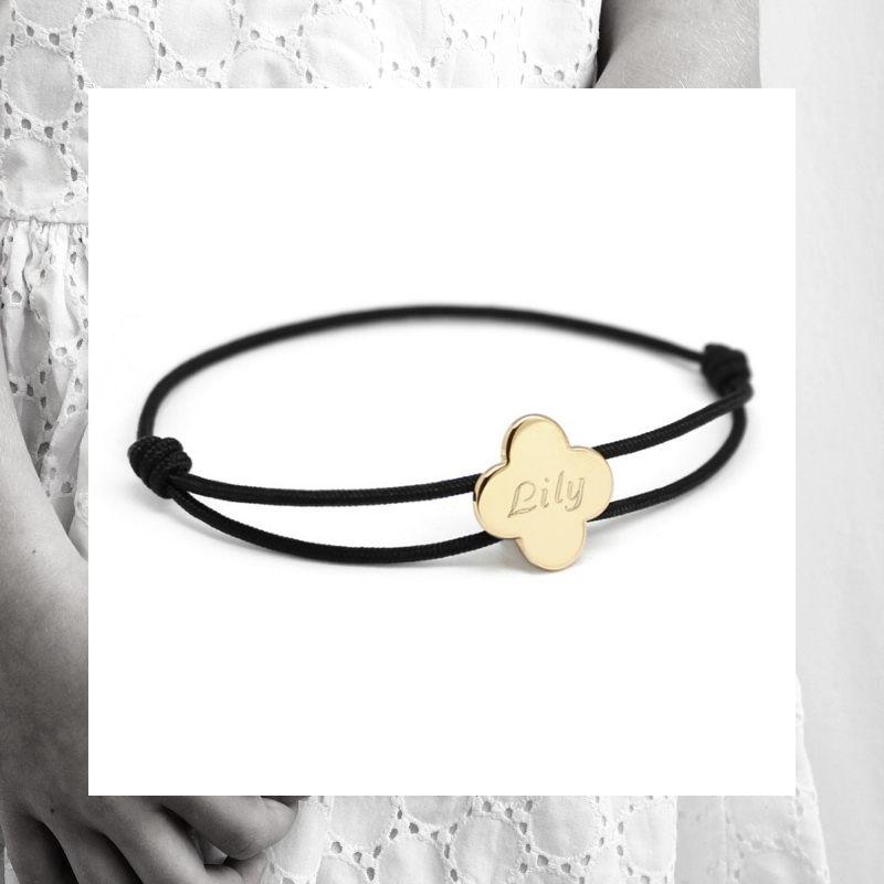 bracelet-medaille-trefle-personnalise