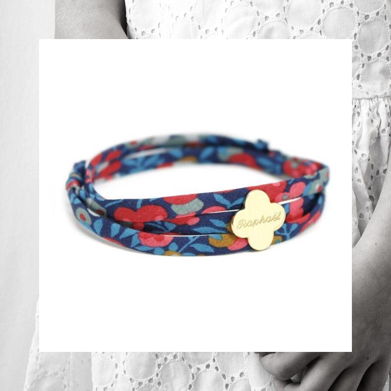 bracelet-trefle-gravure-prenom-personnalise