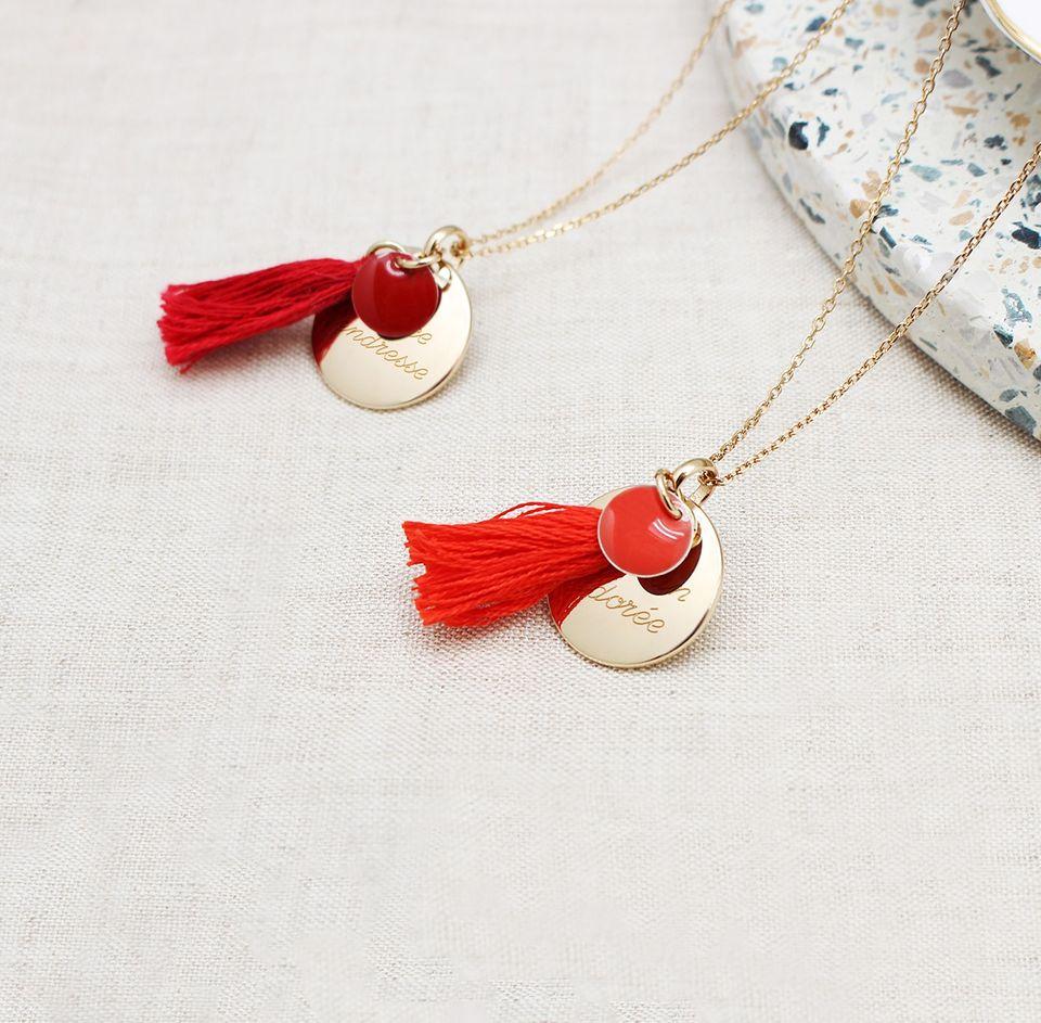 bijoux personnalisables rouges