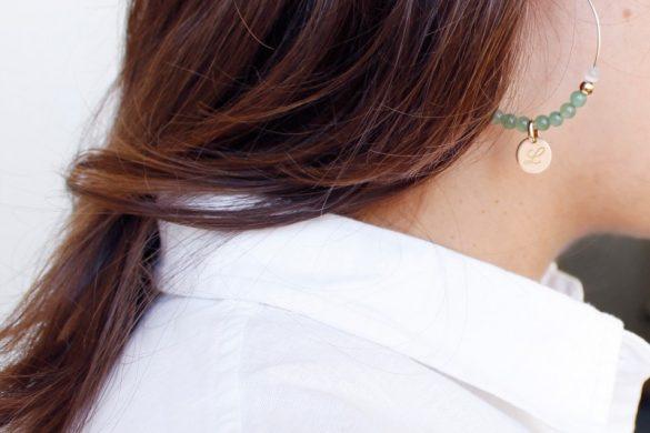 boucles oreilles vertes personnalisables