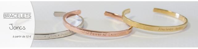 Bracelets joncs femme